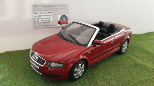 AUDI A4 CABRIOLET ouvert open bordeaux 1/18 WELLY voiture miniature d collection