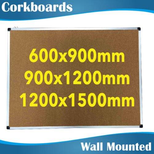 3 Sizes Office Corkboards Cork Board Pinboard Noticeboards