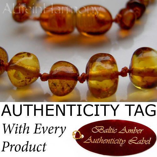 Honey BALTIC AMBER Child NECKLACE AGbA® Certified Beads