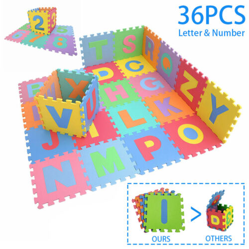 Kid Foam Learning Alphabet ABC Floor Play Mats Tiles Letters Puzzle large gift