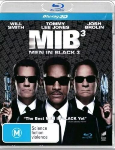 Men In Black 3 (3D / 2D Blu-ray, 2012) Like New - Free Postage