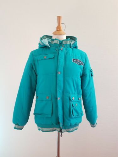 URBAN Kids Boys Winter Warm Thick Quilted Jacket Hooded Size 145cm, 11 YO EUC