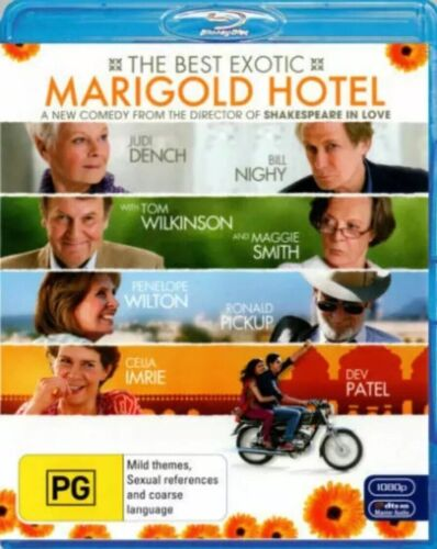 The Best Exotic Marigold Hotel BLU-RAY  Region B - Like New - Free Postage