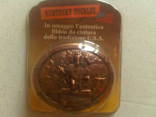 FIBBIA PER CINTURA IN METALLO KENTUCKY BUCKLES FORESTER USA FAR WEST