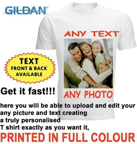 Personalised T-shirt Custom Your Image Printed Stag Hen Party Men Women Kids DTG