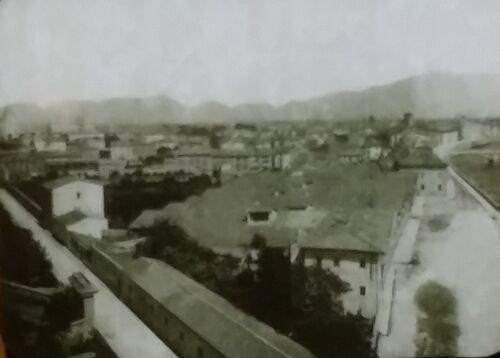 View from the Citadel PISA ITALY Old Magic Lantern Glass Photo Slide