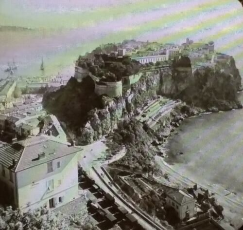 Prince's Castle in Monaco Keystone Magic Lantern Glass Photographic Slide