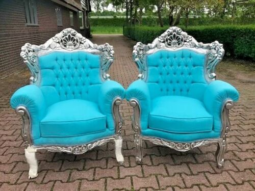 ANTIQUE UNIQUE SET OF TWO CHAIRS IN  BAROQUE