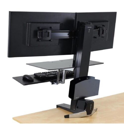 Ergotron WorkFit-S Dual with Worksurface+ Multimedia stand Black 33-349-200