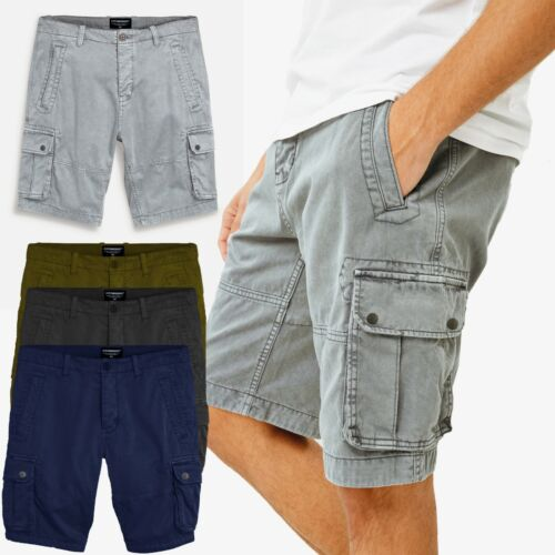 New Mens Washed Cargo Combat Shorts Casual Work Wear Summer Short Pants UK Size <br/> Heavy Cotton Trousers. Knee Length. 6 Pockets Shorts