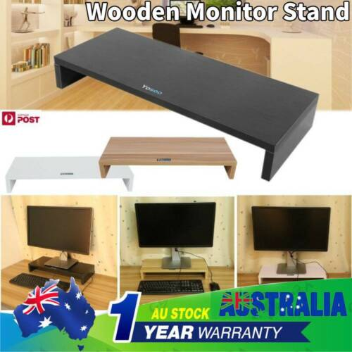 Wooden Monitor Stand LED LCD Computer Monitor Riser Desktop Display Bracket