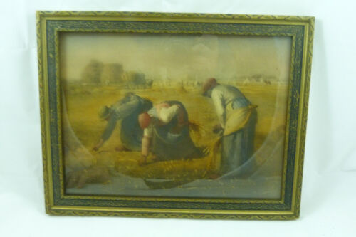 Antique Lithograph Art Samuel Shiff Women Picking in the Field Wagon Print