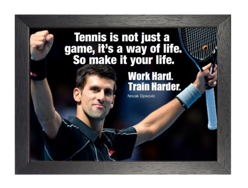 Novak Djokovic 10 Tennis Player Motivation Photo Poster Sport Inspiration Quote