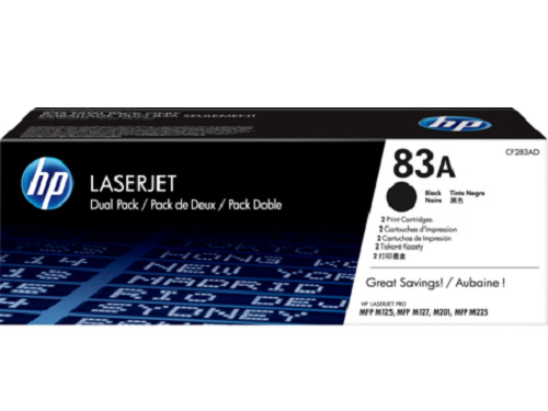 HP GENUINE 83A CF283A LaserJet Toner Cartridge Black Yields 1,500 Pages