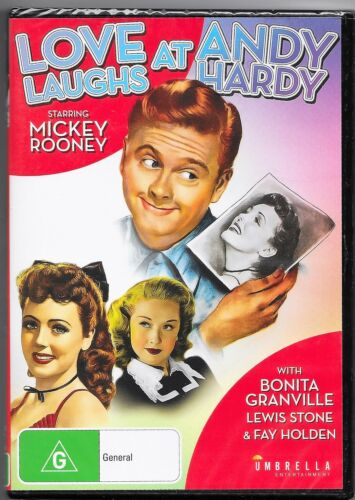 Love Laughs At Andy Hardy Dvd New(Mickey Rooney) Region 4 Free Post
