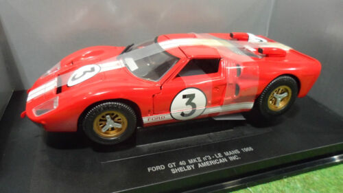 FORD GT 40 MKII LE MANS 1966 # 3 rouge 1/18 UNIVERSAL HOBBIES 3168 voiture minia