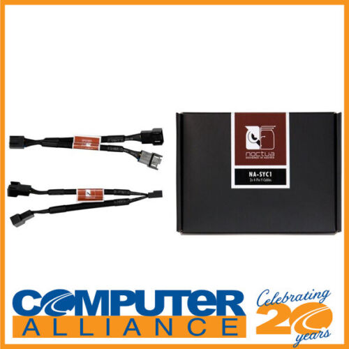 Noctua NA-SYC1 Chromax Black 4 Pin PWM Fan Power Splitter Cables (3 Pack)