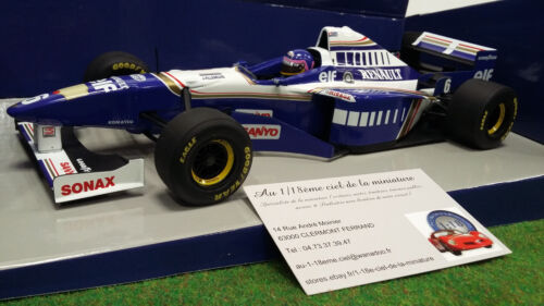 F1 WILLIAMS RENAULT FW18 VILLENEUVE 1/18  MINICHAMPS 180960006 voiture miniature