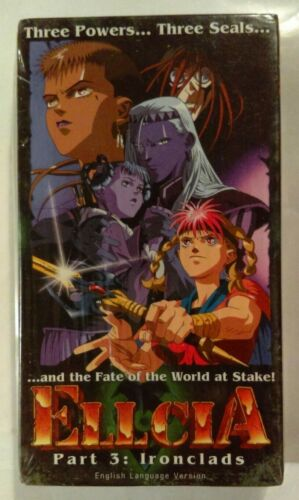 Ellcia VHS 1993 Anime Part 3 Ironclads 1997 A.D.Vision (ADV) NTSC [New & Sealed]