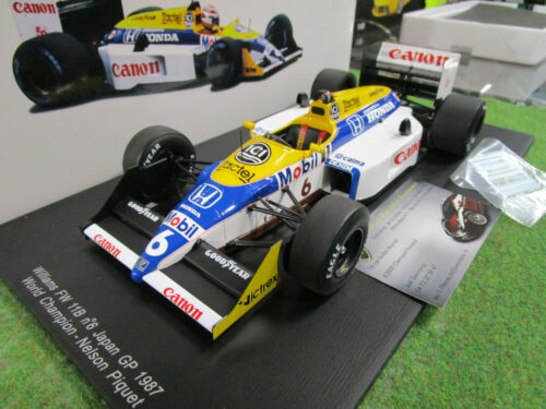 F1 WILLIAMS FW11B # 6 GP JAPON 1987 N.PIQUET 1/18 SPARK 18S118 formule 1 voiture