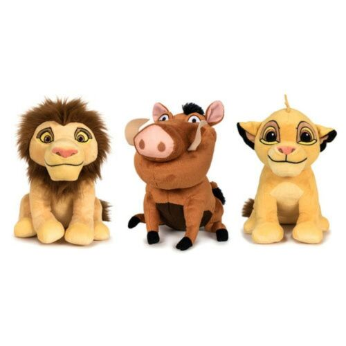 Peluches del Rey Leon Simba Pumba y Simba Adulto Grandes 30 cms muñecos peluche