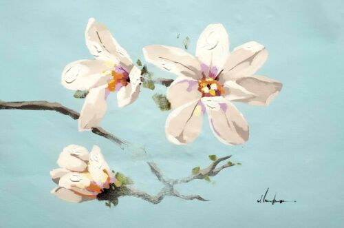 Spring Blossom,  24x36 Hand painted on Giclee Canvas
