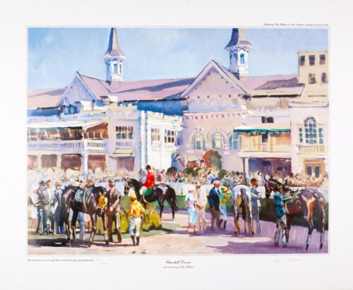Equine Equestrian Prints by New Zealand Artist Peter Williams-Churchill Downs