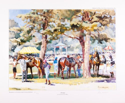 Equine Equestrian Art Prints by New Zealand Artist Peter Williams- Saratoga