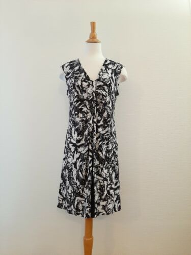 F line by FEATHERS Women's Abstract Printed Tunic Dress, Stretch, Size L GUC