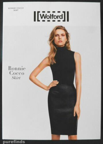 WOLFORD BONNIE COCCO SKIRT, FAUX LEATHER, SIZE 40, UK 12, USA 10, New in box