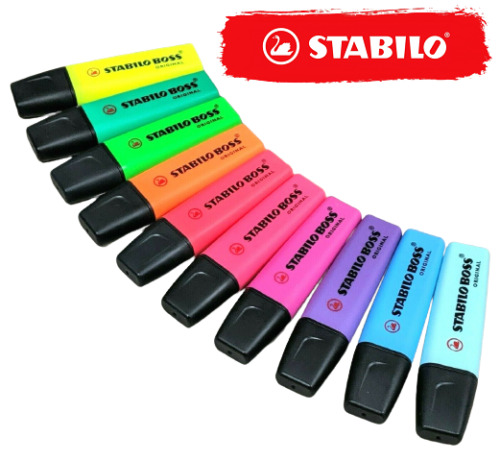 STABILO Boss Original Single Highlighter Multiple Colour Refillable