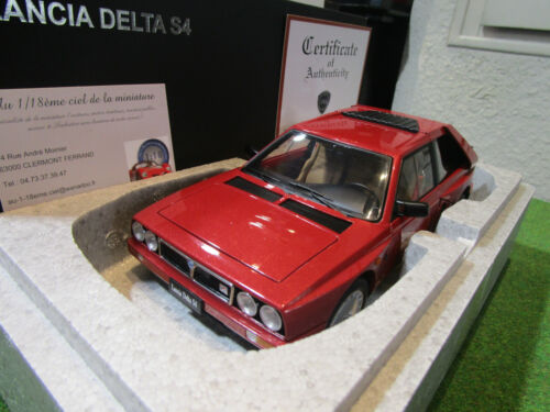 LANCIA DELTA S4 rouge échelle 1/18 AUTOART 74771 voiture miniature de collection