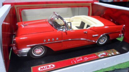 BUICK CENTURY Cabriolet rouge 1955 o 1/18 MIRA 9115 voiture miniature collection
