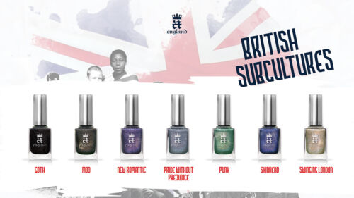A England British Subcultures Collection Assorted Color Nail Polishes
