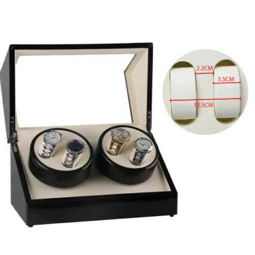 4 Grids Watch Winder Watch Box Storage Luxury Automatic Single Dual 4 Motor Gift <br/> ❤️ Fast Ship Local Stock❤️Best discount