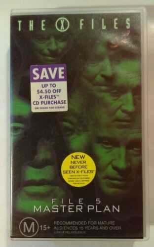 The X-Files VHS 1996 File 5 Master Plan Duchovny Anderson 20th Century Fox Small