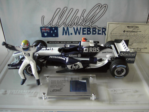 F1 WILLIAMS 2005 WEBBER coffret 1/18 HOT WHEELS G9751 voiture formule 1 miniatur