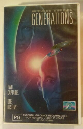 Star Trek Generations VHS 1994 Sci-Fi David Carson Paramount / CIC Video Large