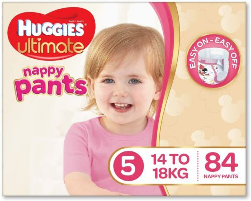 Huggies Ultimate Nappy Pants Nappies Girls Size 6 Junior 16kg+ 78 Count