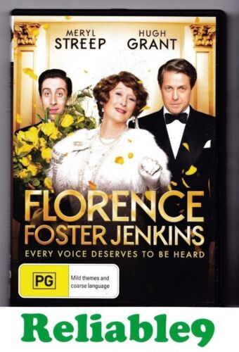Meryl Streep- Florence Foster Jenkins DVD+Special features R4- 2016 Australia