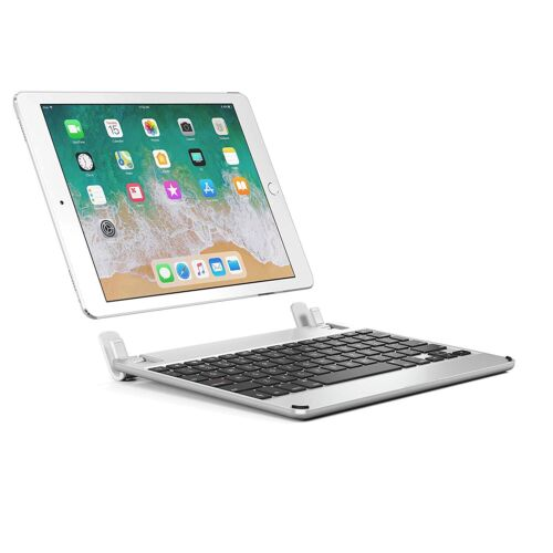 "BRYDGE 9.7"" Bluetooth Keyboard For iPad 6th & 5th Gen,  Air 1 &2, Pro 9.7 Silver"