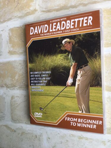 A Lesson With DAVID LEADBETTER- Golf Coach- FROM BEGINNER TO WINNER - PAL DVD