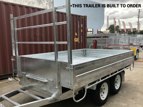 10×6.3 Flat Top / Bed Tandem Dual Axle Trailer For Sale 2800KG ATM Brisbane Qld