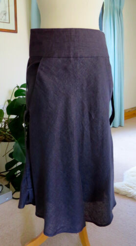 Never worn with tags navy blue linen midi skirt by Cacharel