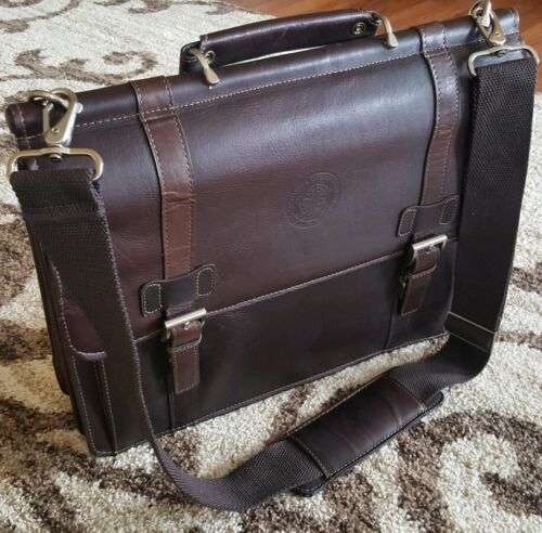 Kenneth Cole Reaction leather suitcase for laptop organizer bag briefcase +strip
