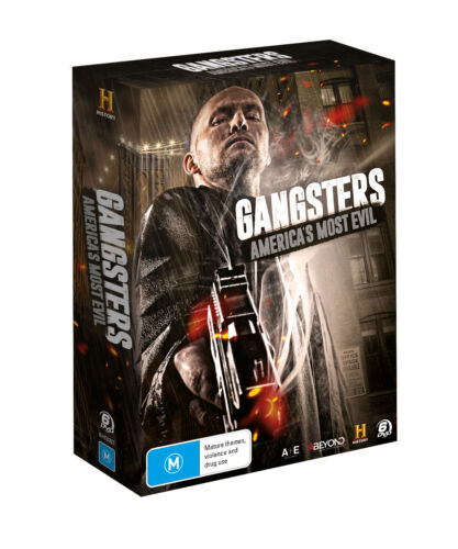 BRAND NEW Gangsters - America's Most Evil (DVD, 2019, 6-Disc Set) *PREORDER R4