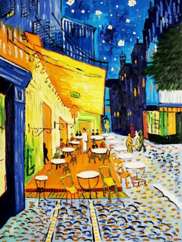 """Cafe by """"Van Gogh"""" 36x48 Hand painted Oil Painting Reproduction on Canvas"""