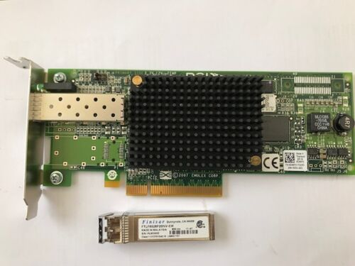 DELL LPE12000 8Gbs SINGLE PORT FC PCIe X8 HBA ADAPTER WITH SFP P/N: 0CN6YJ  LP