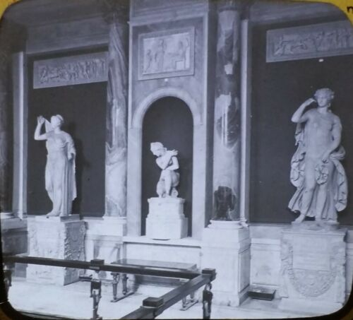 Gallery of Masks in the Vatican Museum, Rome Italy Magic Lantern Glass Slide