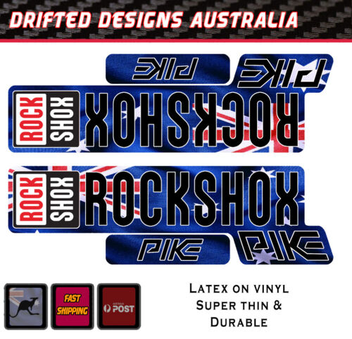 Rock Shox 2017 Super Deluxe RC3 Rear Shock MTB Decal Sticker Adhesive Blue